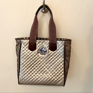 Consuela Classic Tote gold/snake